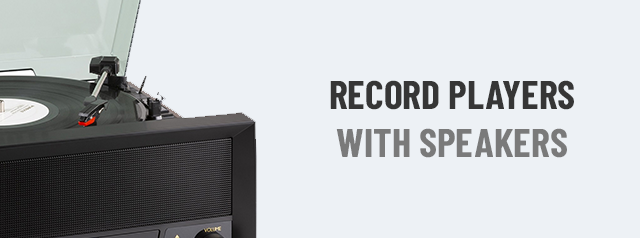 Record Players with Speakers