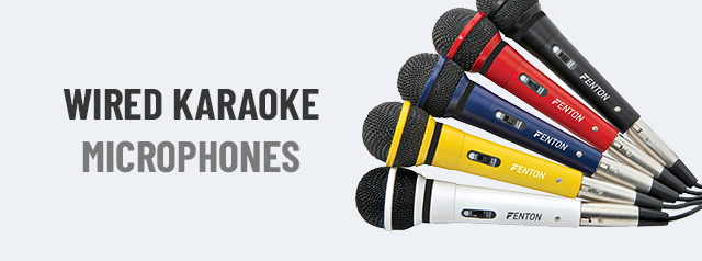 Wired Karaoke Microphones